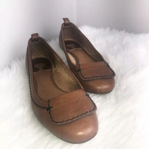Chloe brown leather flats 7